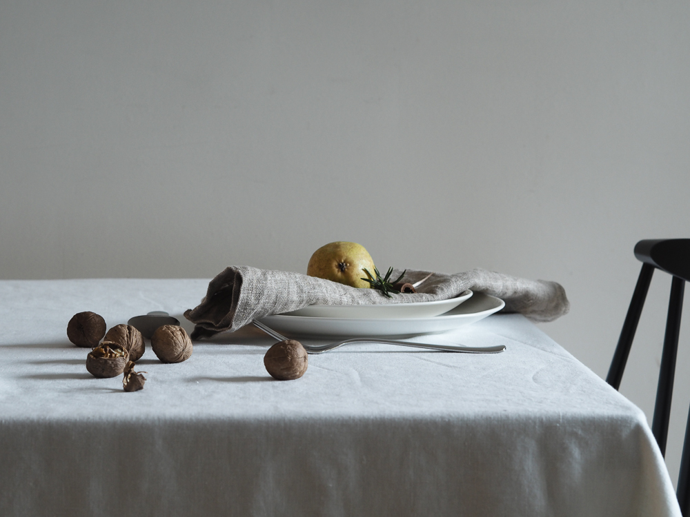 Winter table setting still life | Design Hunter