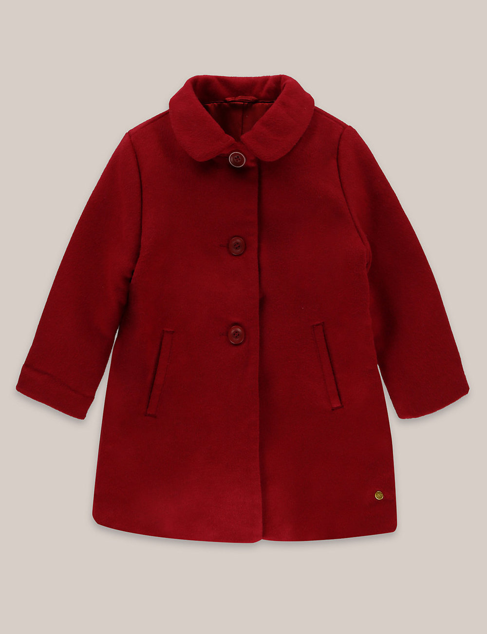 Red child's coat