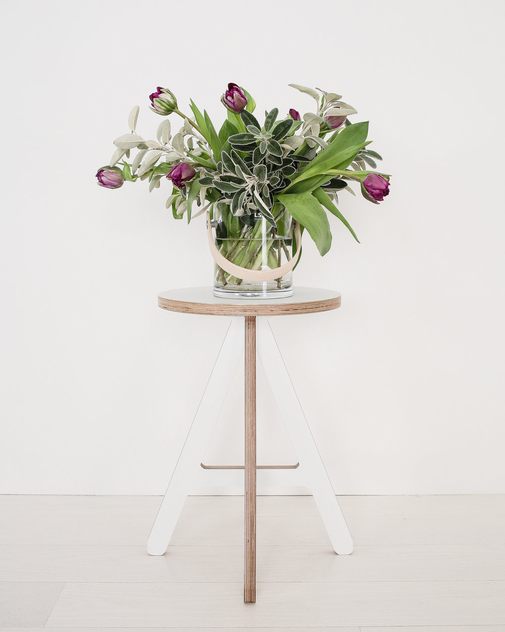 Tulips on white ByAlex stool | Design Hunter