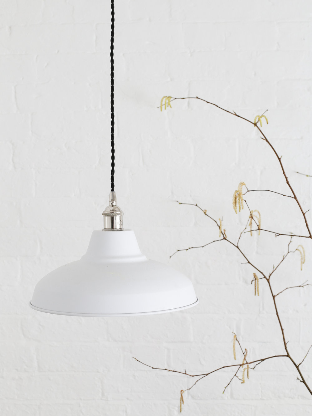 White metal pendant light | The White Company