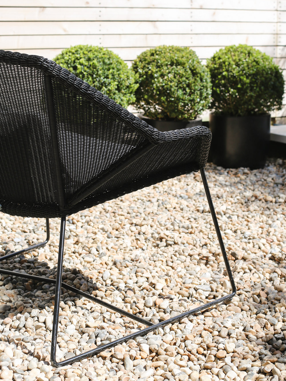 Black rattan Danish garden chair by Cane-line | Design Hunter