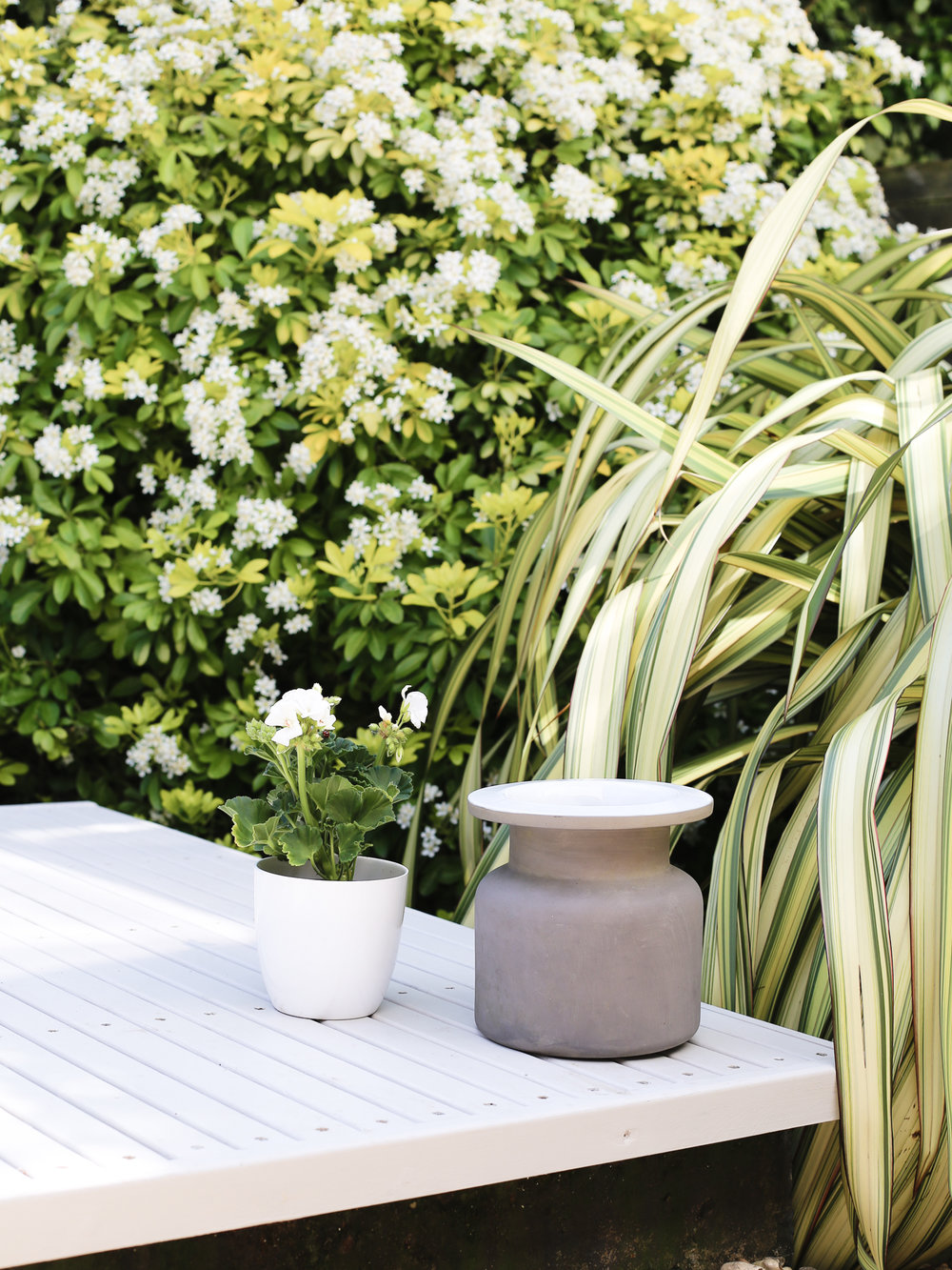 Garden planters on decking | Design Hunter
