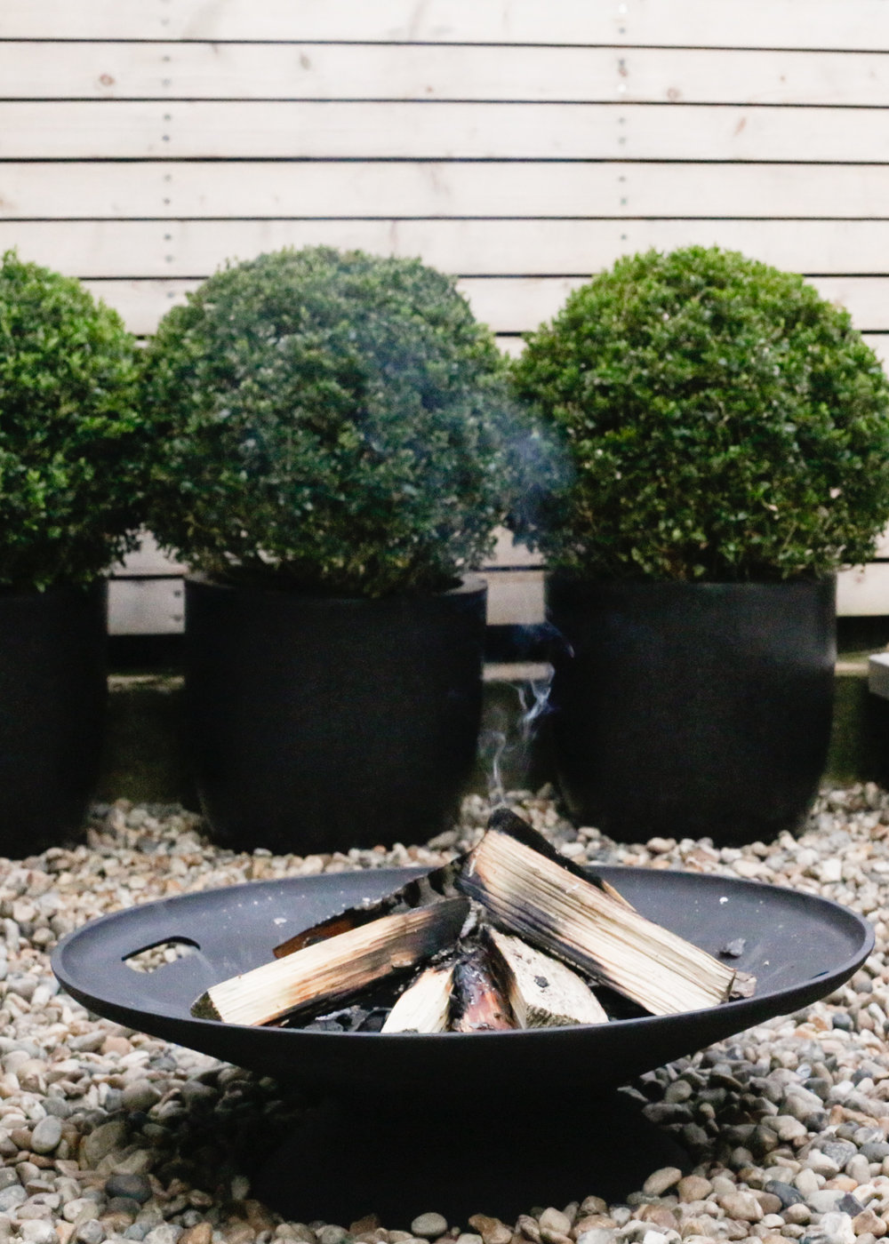 Skagerak firebowl and topiary balls | Design Hunter