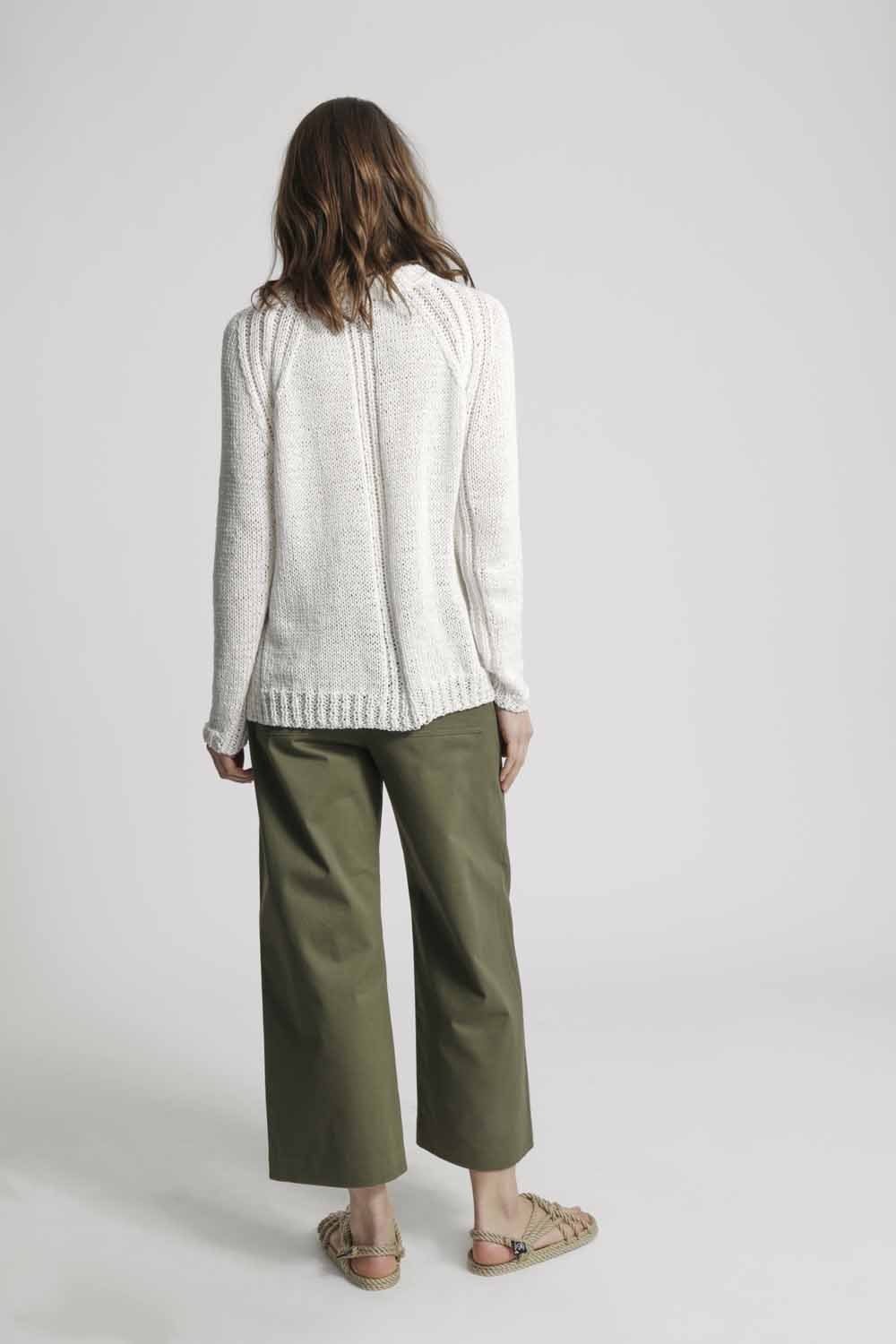 White sweater by Wool and the Gang | Design Hunter
