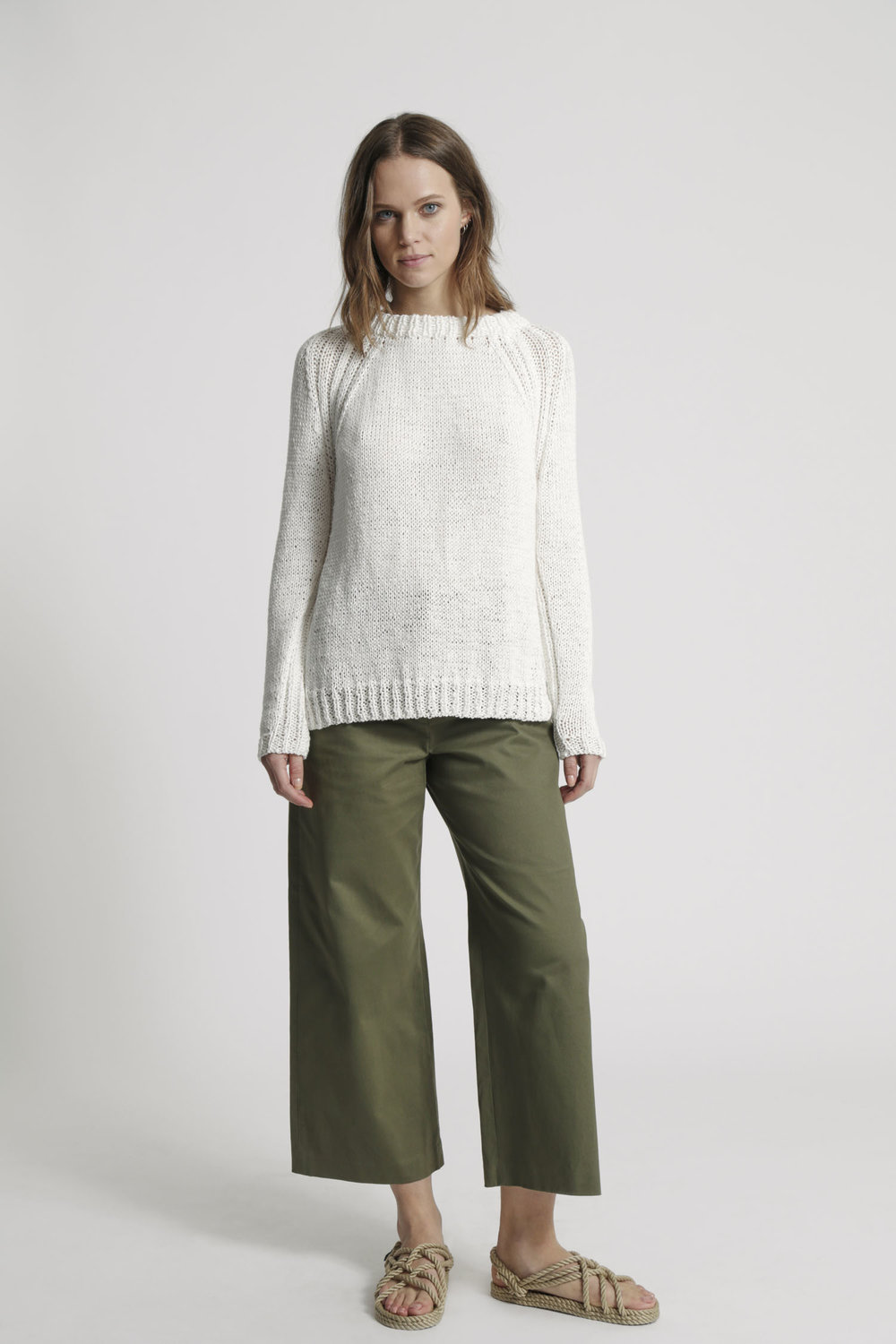 White summer sweater by Wool and the Gang | Design Hunter