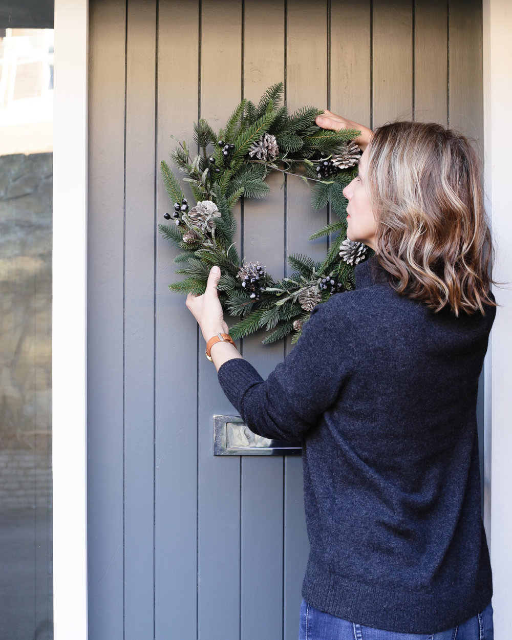 Door wreath by The White Company | Design Hunter