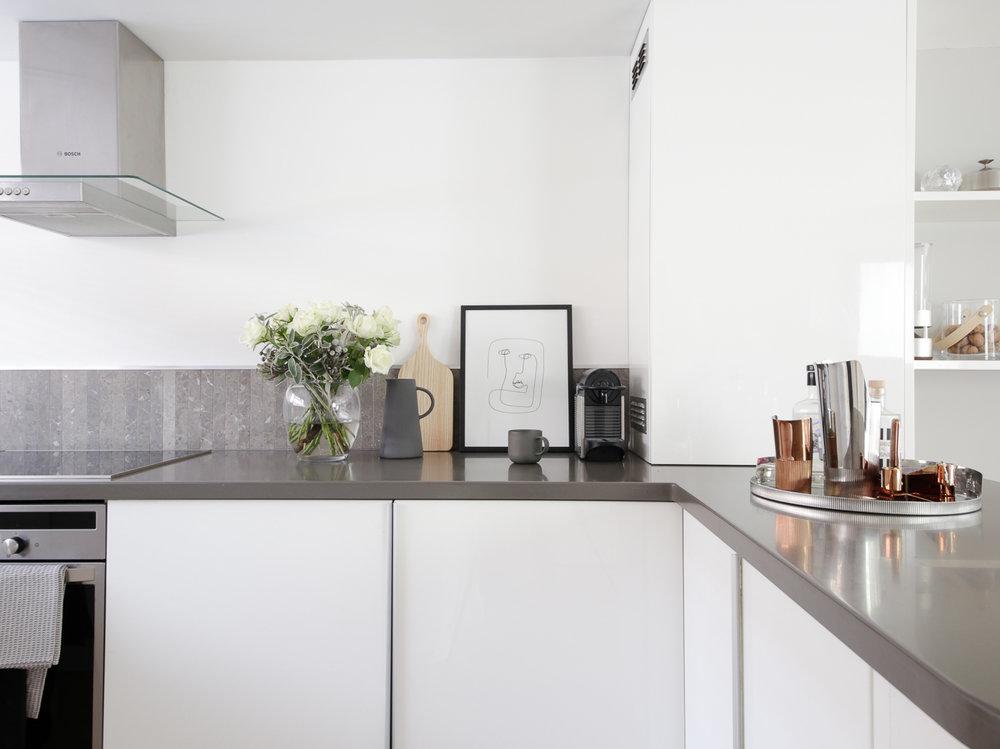 Modern contemporary white kitchen design hunter