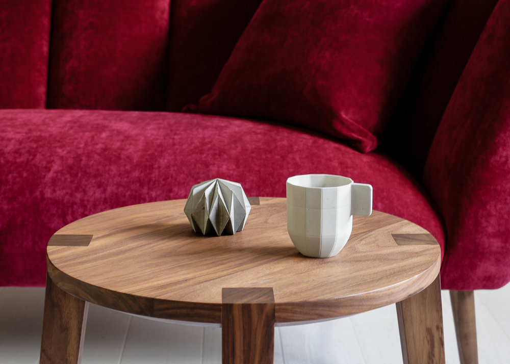 Amy sofa  and  Lara small side table  by Carsten Astheimer