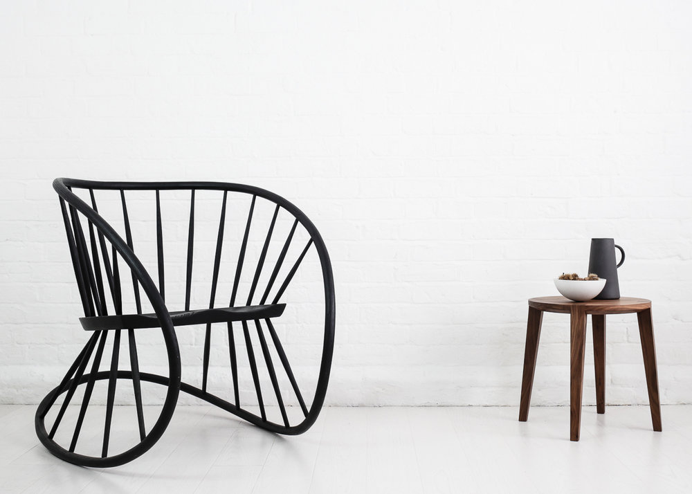 W indsor rocker  by Katie Walker and Lara small side table by Carsten Astheimer