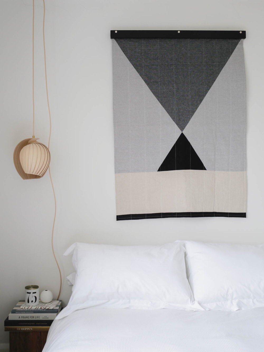 Handmade modern minimal quilt by Louise Gray | Design Hunter