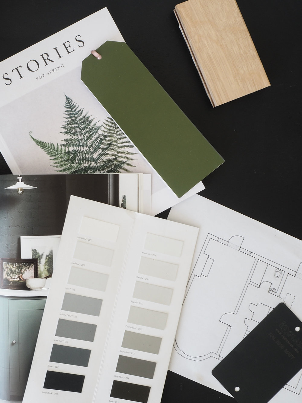 Kitchen moodboard - planning our new extension