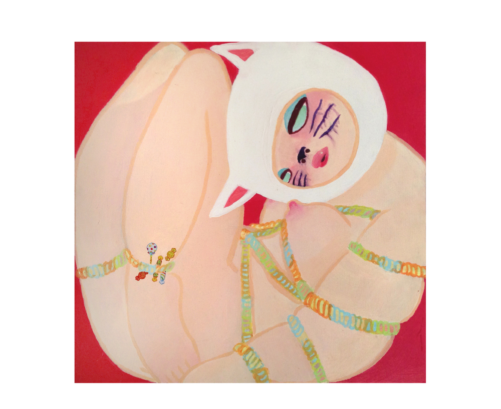 Candy Plaything.  Acrylic, Stickers. 2015