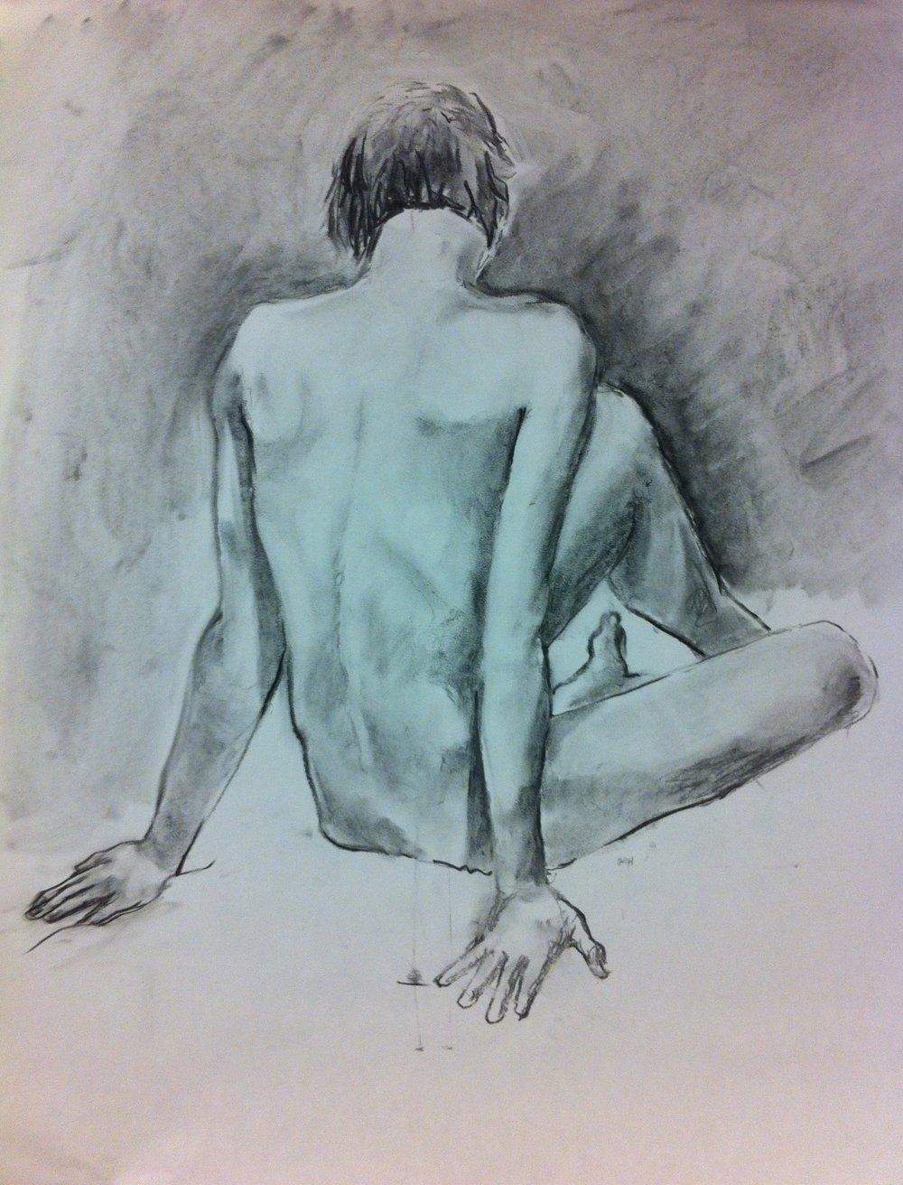Nude.  Charcoal. 2015