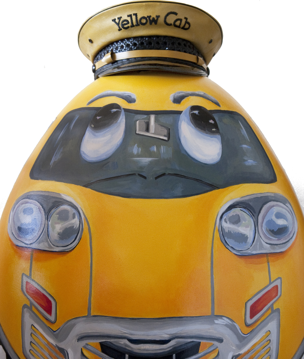 Sunny , The Original Taxi Cab Egg:  Commissioned art piece