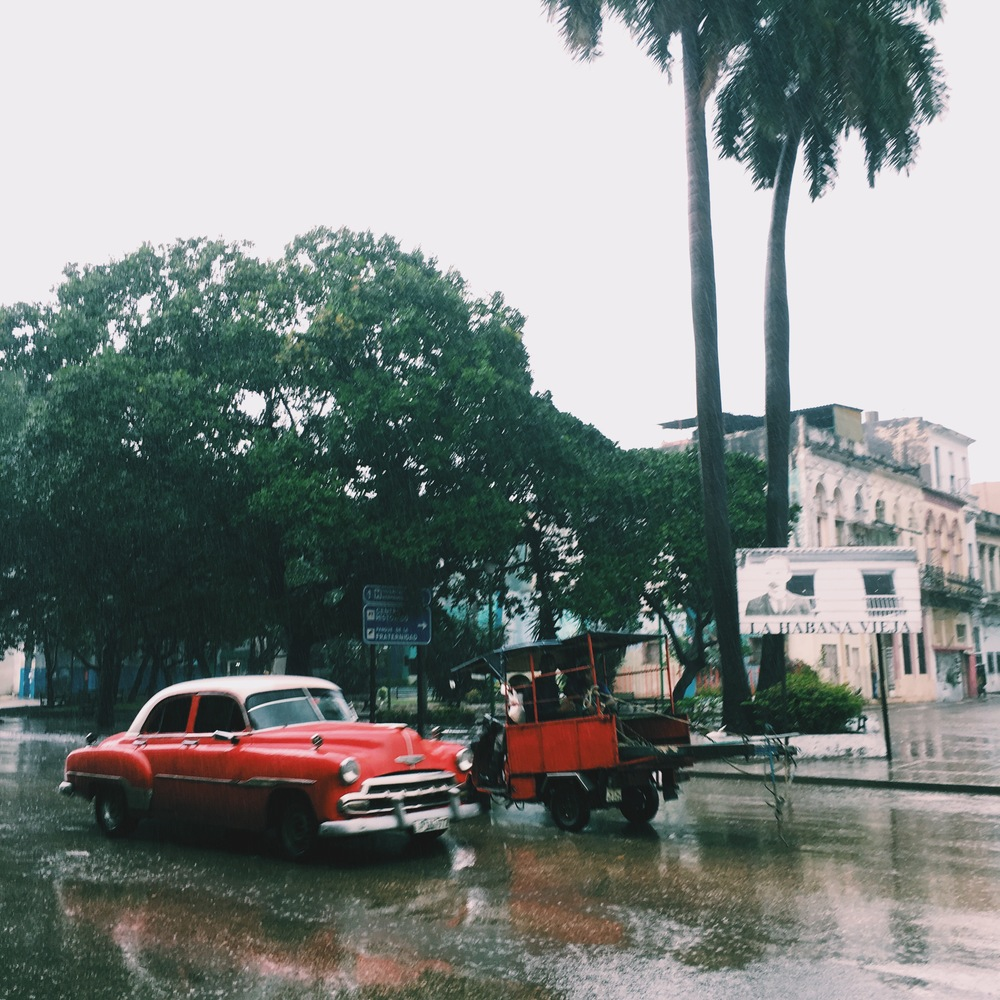 The flooded streets of Havana, Cuba struggle to accommodate the movement of people, goods, and services during the monsoon season.