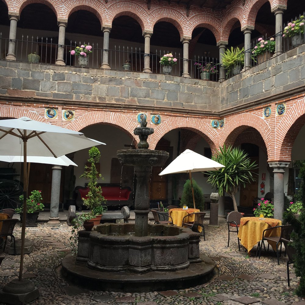 An old royal quarter in Cuzco - also the only hotel that demanded my tourist card.
