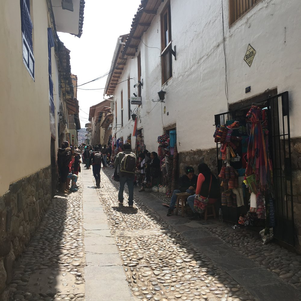 The beautiful streets of Cuzco