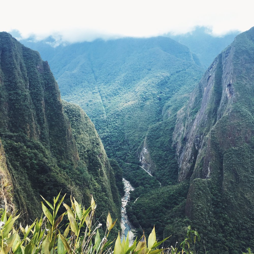 The valley view from Huayna Picchu