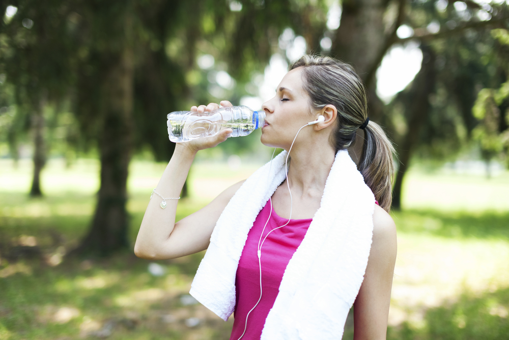 Drink half your body weight (in ounces) of water to optimize your athletic performance.