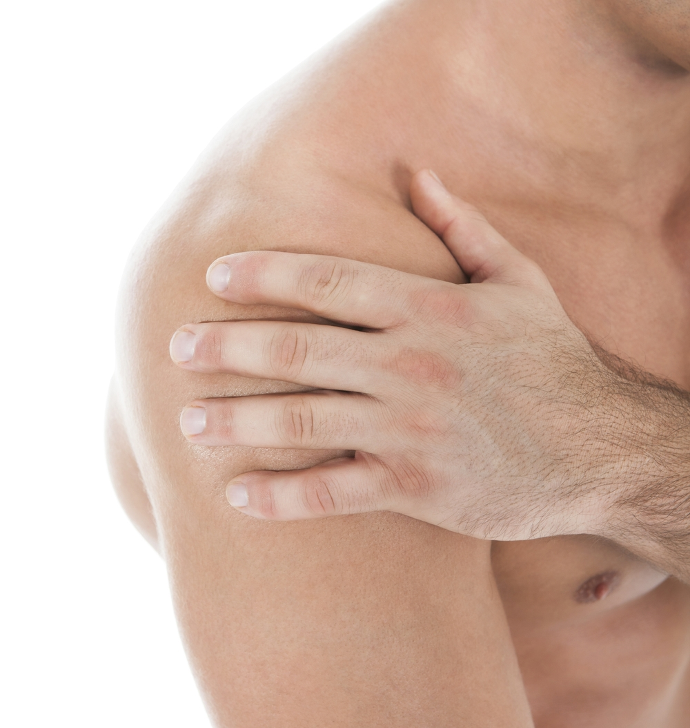 Poor mechanics of the upper back and shoulder blades often are the cause of pain in the shoulder.