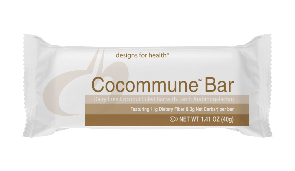 Enjoy optimum health benefits while indulging in your sweet tooth with the Cocommune™ Bar