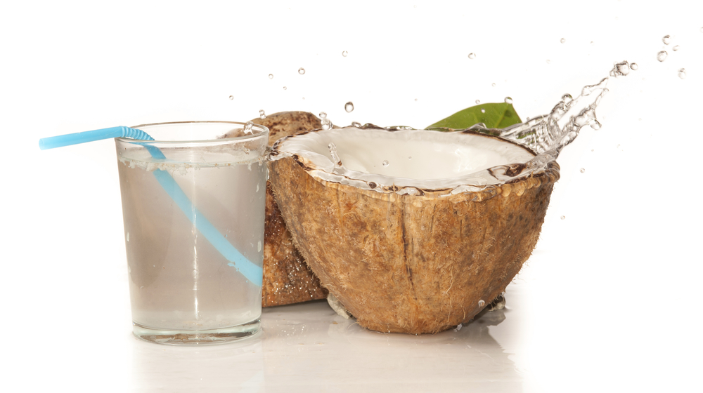Hydration, nutrition and low-calorie goodness is offered by  coconut water