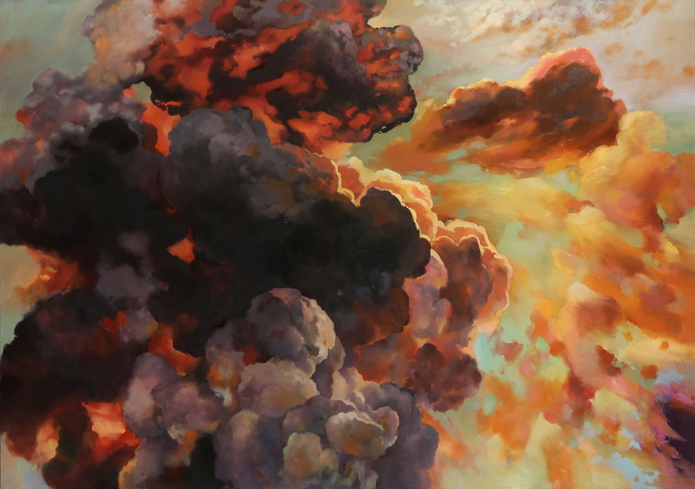"Wellspring, Oil on Canvas, 65""x92"", 2014, RACHEL SAGER"