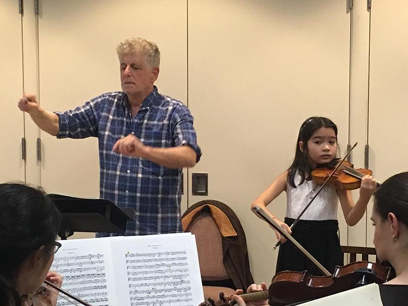 Valery Breshears in rehearsal