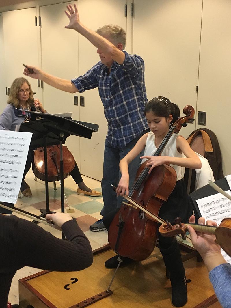 Starla Breshears in rehearsal
