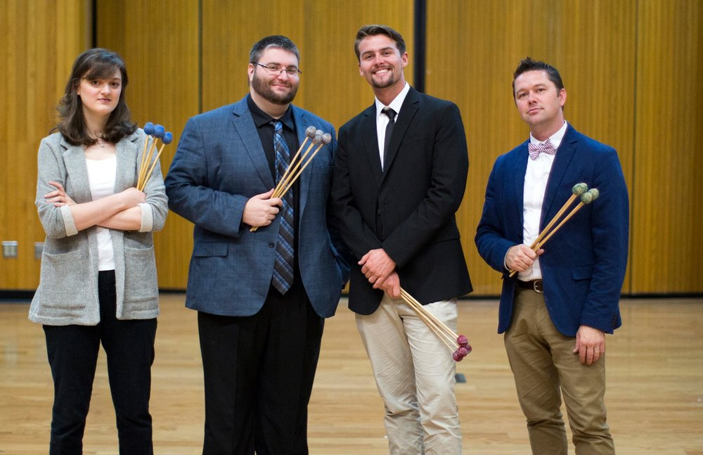 Left to right: Peyton Esraelian, Robert Strong, Sean Clark, and Michael Downing of the Orphiq Quartet.