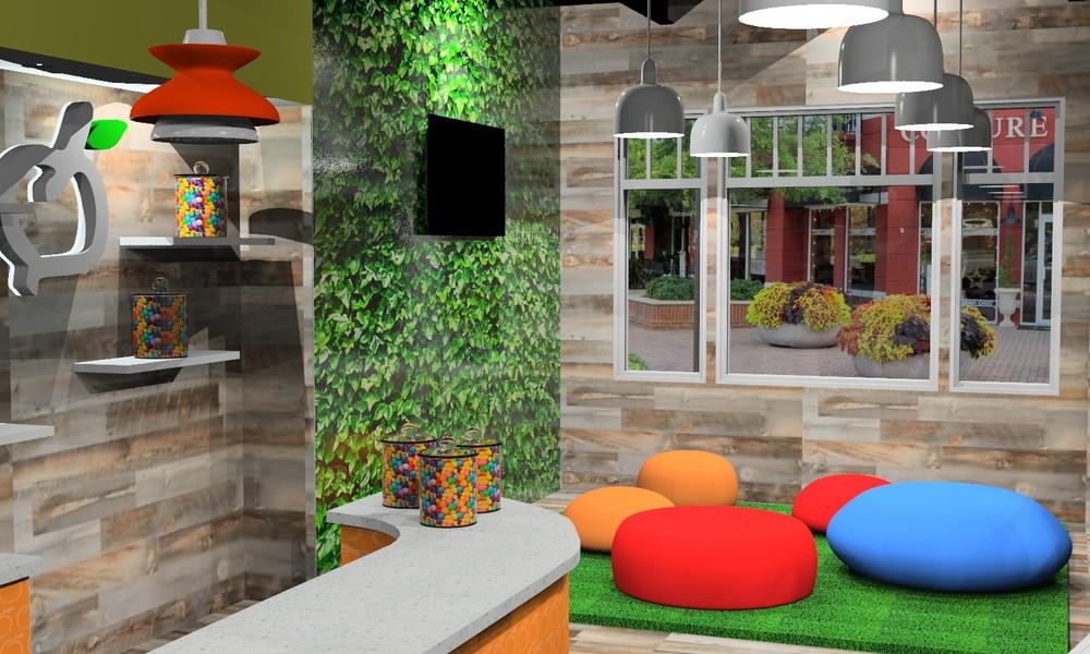 3D Computer Rendering Interior of Store