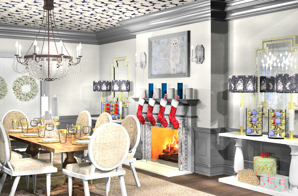 Dining Room Rendering for the 2014 Holiday Card