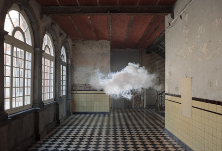 © Berndnaut Smilde, Nimbus D'Aspremont, 2012. Cloud in room Lambda, Kasteel D'Aspremont-Lynden, Rekem, BE. Photo: Cassander Eeftinck Schattenkerk.