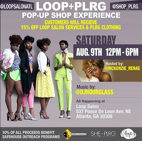 Come out Saturday August 9th for She x PLRG's latest Pop Up Shop at Loop Salon! Spins by yours trully, DJ Hourglass from 2-6!