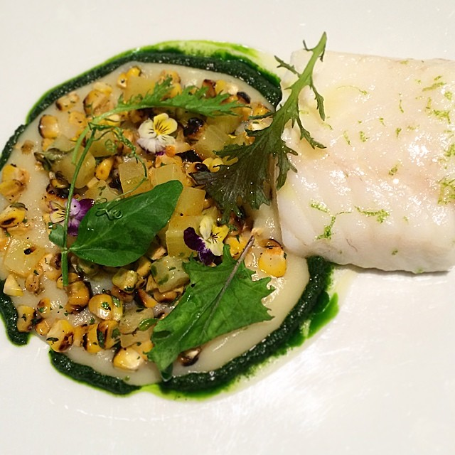 Hard work pays off. New Cod preparation in time for summer. Think fennel, charred corn, cucumber, dill and chili peppers.