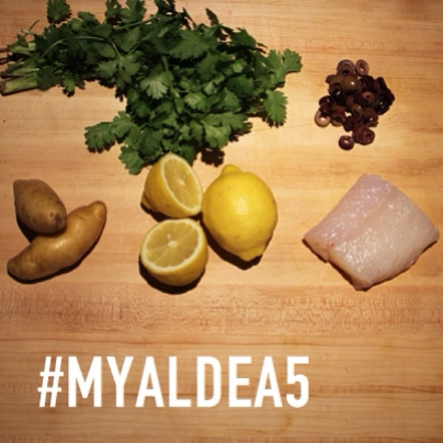 We're turning 5! Celebrate with our #myaldea5 recipe contest—you can win dinner for 2 @aldeanyc and be featured on our menu! Here's how it works: follow @aldeanyc, submit an original recipe & photo using these 5 ingredients (cod, potatoes, cilantro, lemon, black olives) between now & May 11, and tag your photo with #myaldea5. @geomendes will announce the winner on May 13.