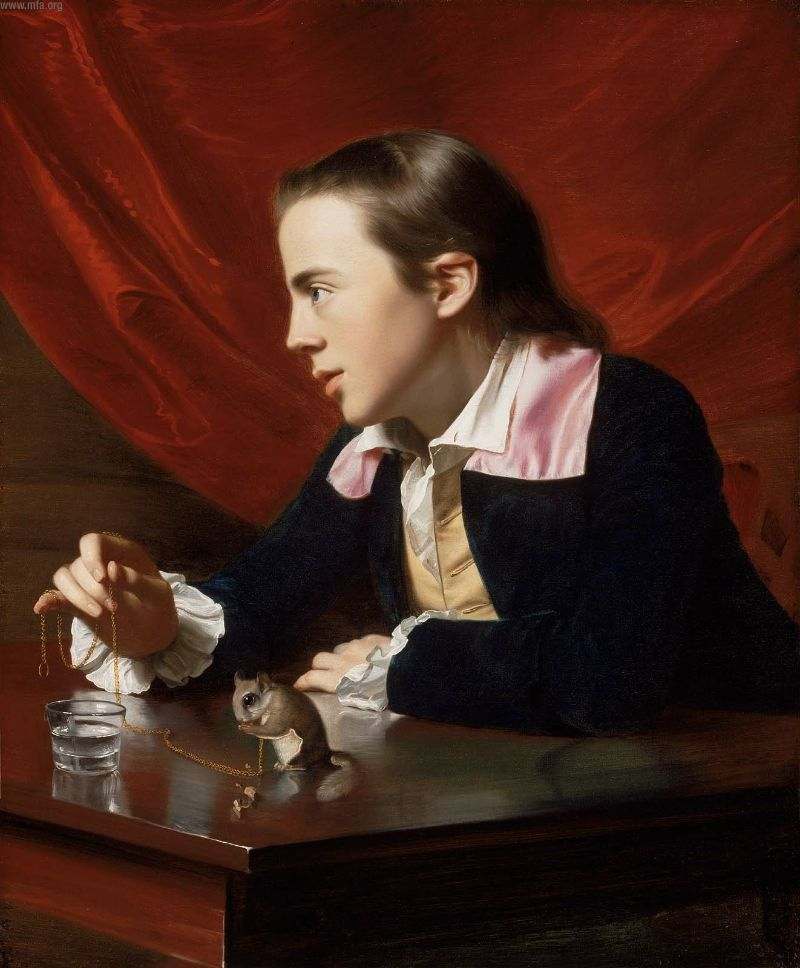 John Singleton Copley, Boy with a Squirrel (1765), oil on canvas.