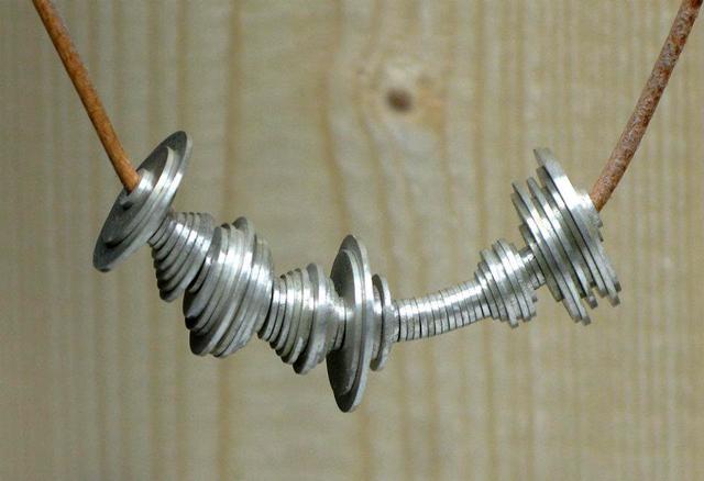 Waveform Necklace by Berlin-based designer David Bizer