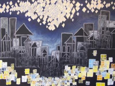 "insomnia  ,  36"" x 48"",  oil on canvas,  2006   kathryn nova williams"
