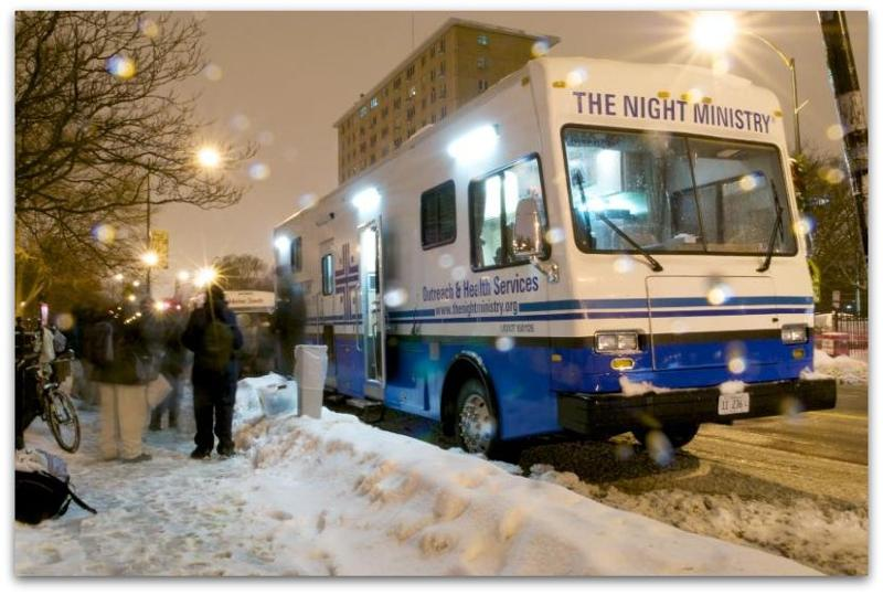 The Night Ministry's Health Outreach Bus