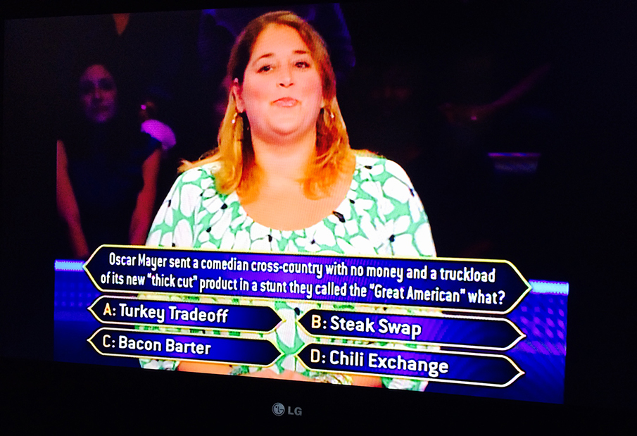 AS SEEN ON  WHO WANTS TO BE A MILLIONAIRE?