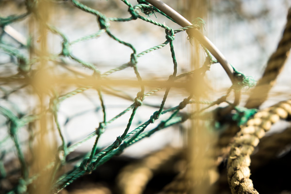 Lobster net detail - Porpoise Cove, Maine