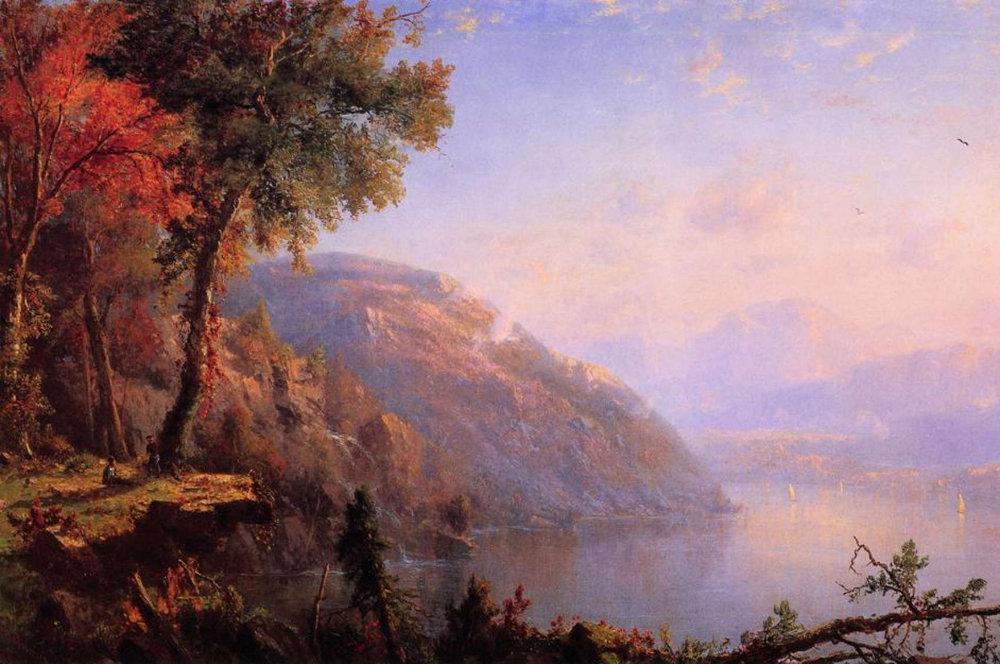 Lake George at Sunset, Régis François Gignoux