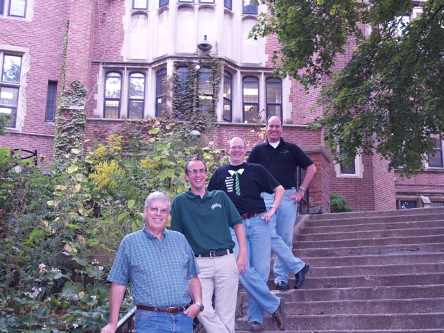 Top to Bottom: Bill Ortega, Jon Walsh, Andy Jeffrey, and Tom Pfaff (Choral Accompanist/Musical Accompanist)