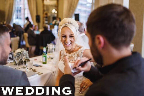 magician in Liverpool wedding reaction