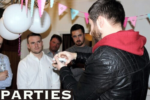 Magician in Liverpool performing for party