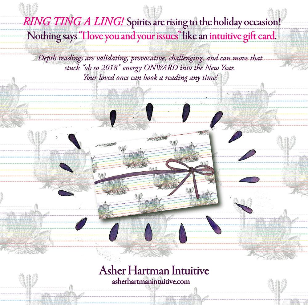 Asher Hartman Intuitive Gift Card