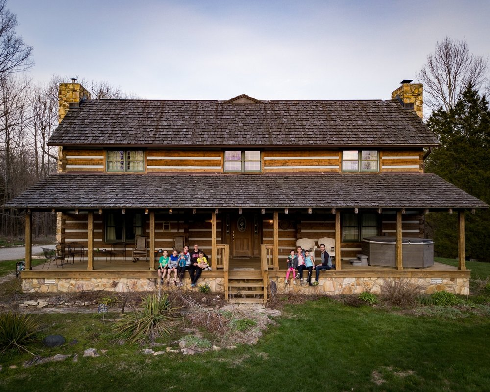 100 Acre Log Cabin, Morgantown, Indianan     Spring Break 2018