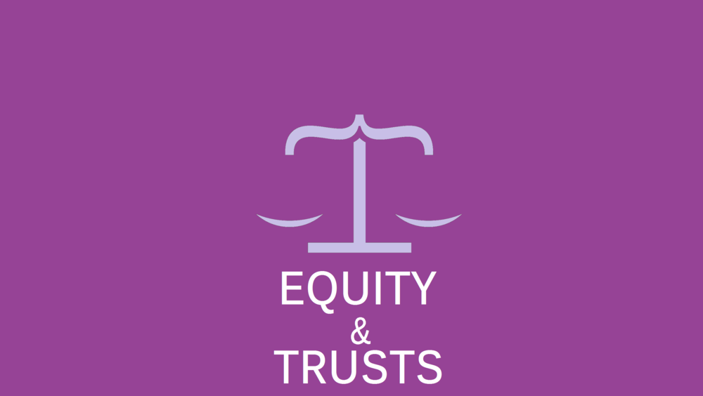 The Three Certainties,Formalities &Constitution  Secret Trusts  Private Purpose Trusts  Unincorporated Associations and Charities  Implied Trusts of the Home  Trustee Powers & Fiduciary Duties  Breach of Trust  Tracing & Third Party Liabilities  Insolvency - Customer Pre-Payments & Quistclose Trusts  Remedies