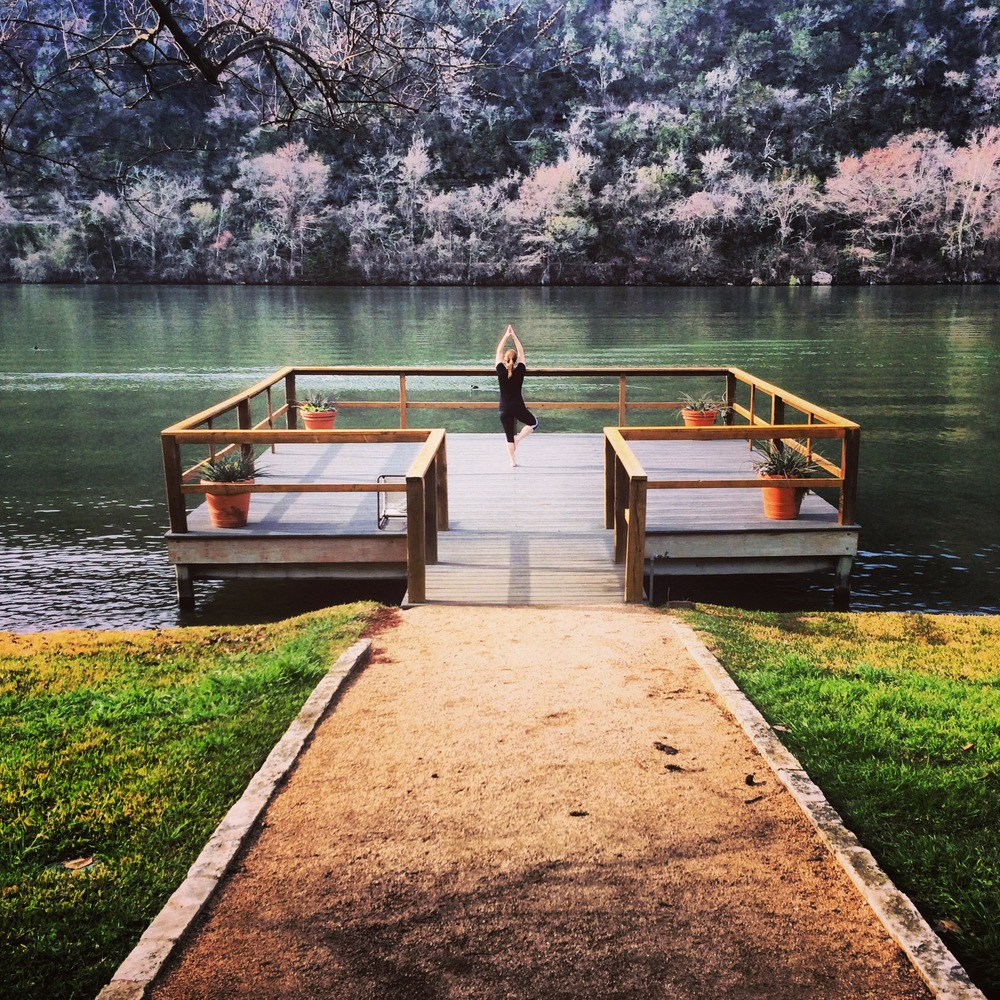 Lake Austin Spa Yoga Deck